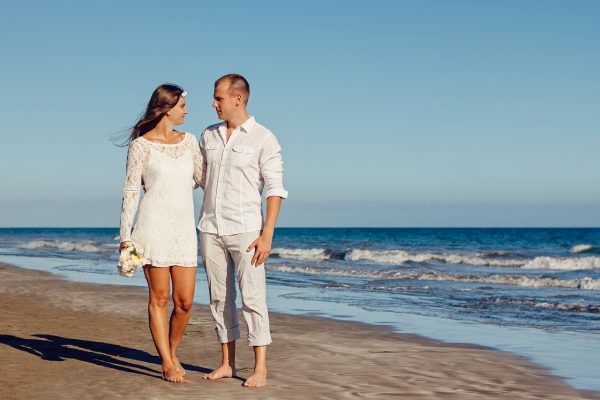Beach Celebrant Wedding Couple